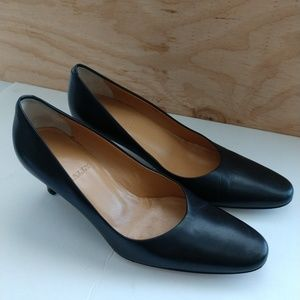 BALLY Silla Black Leather Pumps Made in Italy